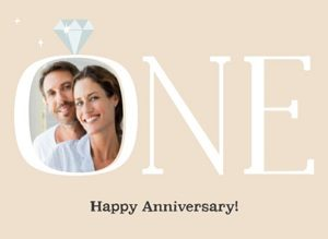 1 jaar getrouwd kaart