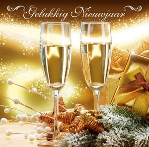 Gelukkig nieuwjaar kaart