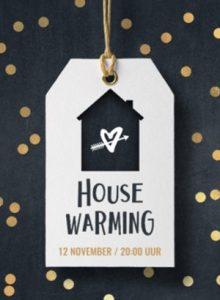 Housewarming kaart