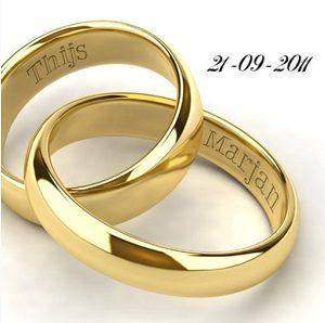 Huwelijk kaartje