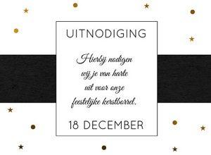 Uitnodigingskaart kerst